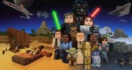 Původní Star Wars trilogie v kostičkované podobě v Minecraftu