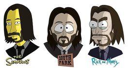 Zajímá vás, jak by asi vypadal John Wick v nejpopulárnějších animovaných seriálech?