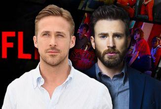 Najdrahší Netflixovský film bude mať Ryana Goslinga, Chrisa Evansa a bratov Russovcov