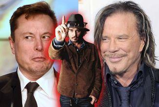 Mickey Rourke vyzval Elona Muska na súboj za česť Johnnyho Deppa