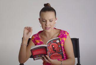 Millie Bobby Brown číta originálnu Enolu Holmes pred Netflixovskou premiérou