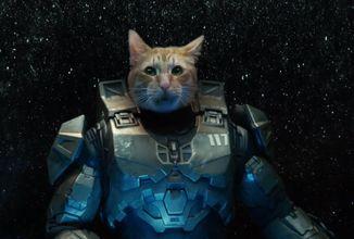 Reklama na Xbox Series X s Master Chiefem... jako kočkou