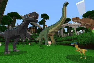 Minecraft přidává dinosaury z filmu Jurský svět