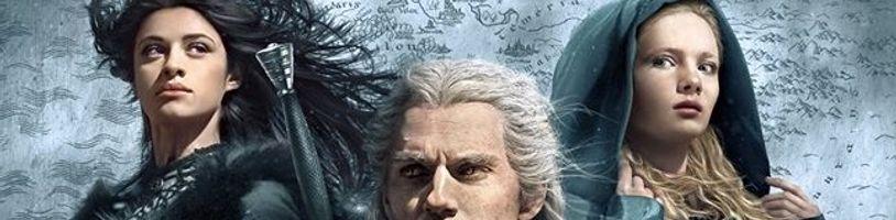 Geralt, Ciri a Yennefer na oficiálním plakátu seriálu Zaklínač