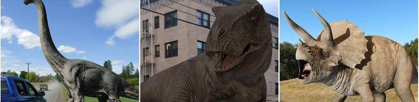 """Vďaka Google môžete mať """"živé"""" dinosaury z Jurského sveta priamo vedľa seba"""
