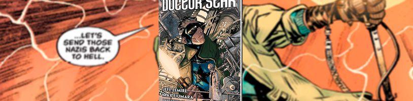 Vysloužilý superhrdina Doktor Hvězdy vzpomíná na svá léta slávy ve stejnojmenném komiksu Doktor Hvězda a království ztracených zítřků