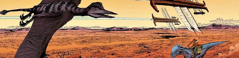 Komiks Negalyod je spojením Dinotopie a Šíleného Maxe
