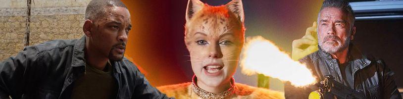 Najstratovejšie filmy uplynulého roka sú Cats, Gemini Man a posledný Terminátor