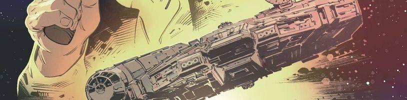 Han Solo a Chewbacca v komiksové adaptaci novely Star Wars: Smuggler's Run