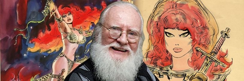 Umrel Frank Thorne, ilustrátor komiksov a hlavný kreslič Rudej Sonje