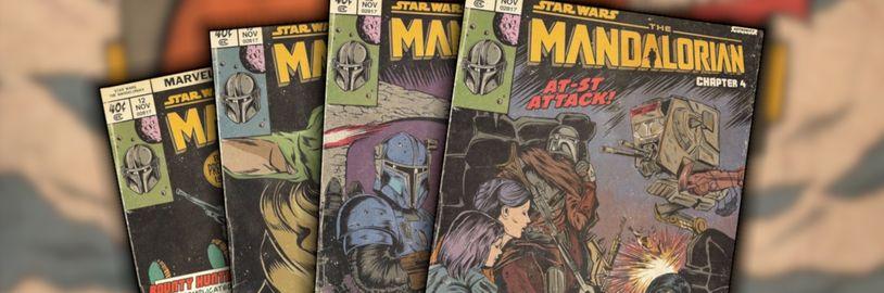 Mandalorian ako klasický komiks? Na internete sa objavili obálky