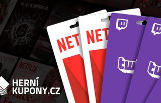 Vyhrajte předplatné na Netflix či Twitch s Herními kupony